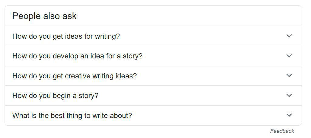 Questions people have about finding writing ideas